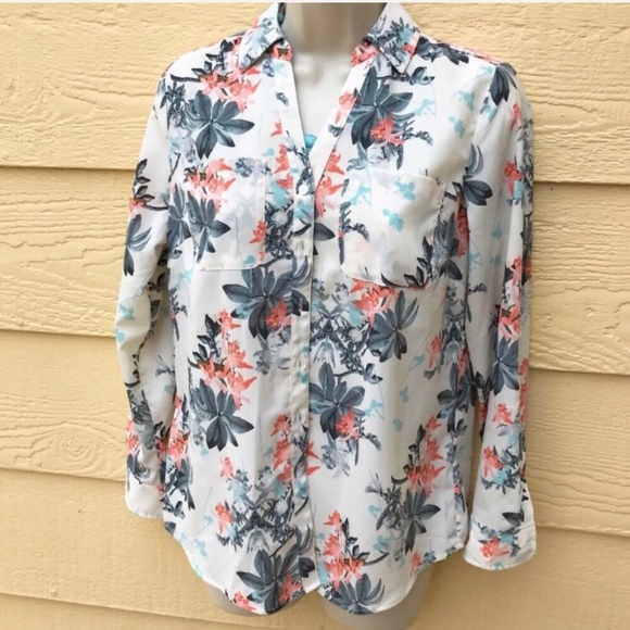 Talbots Tops - TALBOTS Tropical Floral Button Up Blouse SP